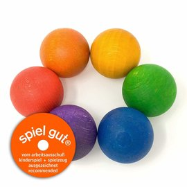 Grapat Grapat 6 regenboog ballen