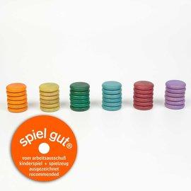 Grapat Grapat Houten muntjes herfstkleuren 36 stuks