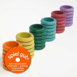 Grapat Grapat Houten ringen herfstkleuren 36 stuks