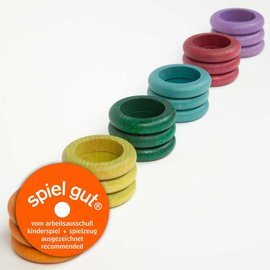 Grapat Grapat Houten ringen herfstkleuren 18 stuks