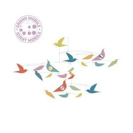 Djeco Djeco Mobiel- gekleurde vogels- katsumi