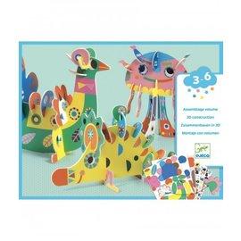 Djeco Djeco Knutselset - 3D Dieren
