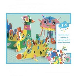 Djeco Djeco Knutselset - 3D Dieren - DJ08983