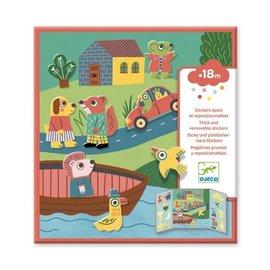 Djeco Djeco Herbruikbare stickers - Dieren