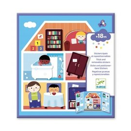 Djeco Djeco Herbruikbare stickers - Huis