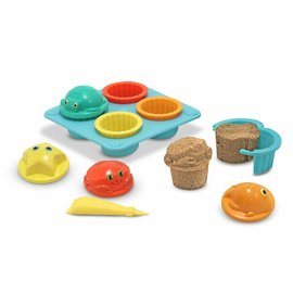 Melissa & Doug Melissa and Doug zand cupcake set