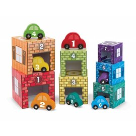 Melissa & Doug Melissa and Doug stapeltoren garage met auto's