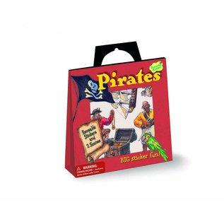 Peaceable Kingdom Stickertasje Piraten met 28 herbruikbare stickers