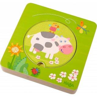 Haba haba houten puzzel boerderijdieren