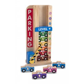 Melissa & Doug Melissa and Doug houten stapelgarage met auto's