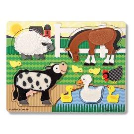 Melissa & Doug Melissa and Doug houten voel puzzel boerderijdieren