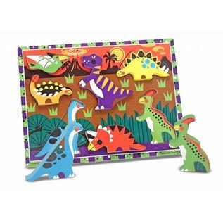 Melissa & Doug Melissa and Doug houten puzzel 'Dinosaur'