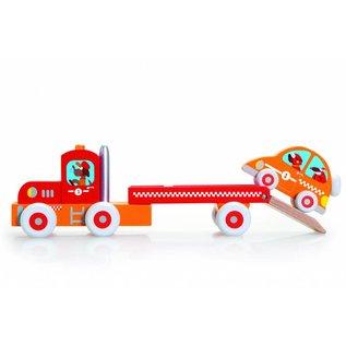 Scratch Scratch houten vrachtwagen & raceauto