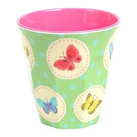 Ginger Happy Butterflies melamine drinkbeker