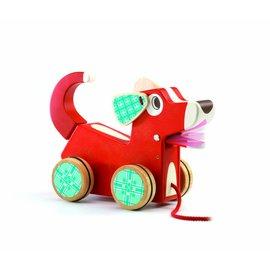 Djeco Djeco houten trek-hond 'Woofy Dog'