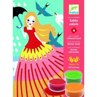 Djeco Djeco gekleurd zand - Wandelende meisjes
