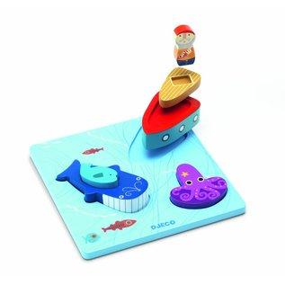 Djeco Djeco houten puzzel '123 Moby'