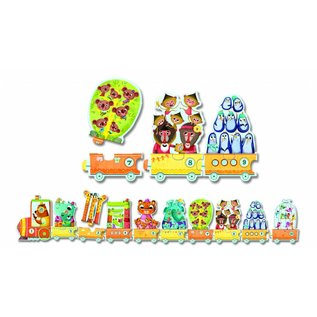 Djeco Djeco puzzel teltrein Dieren