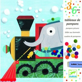 Djeco Djeco pomponschilderijtje  Vervoer