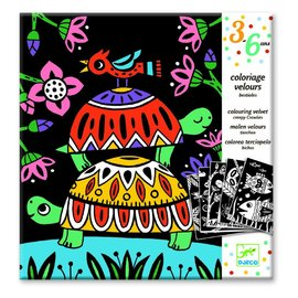 Djeco Djeco fluwelen kleurplaten - beestjes