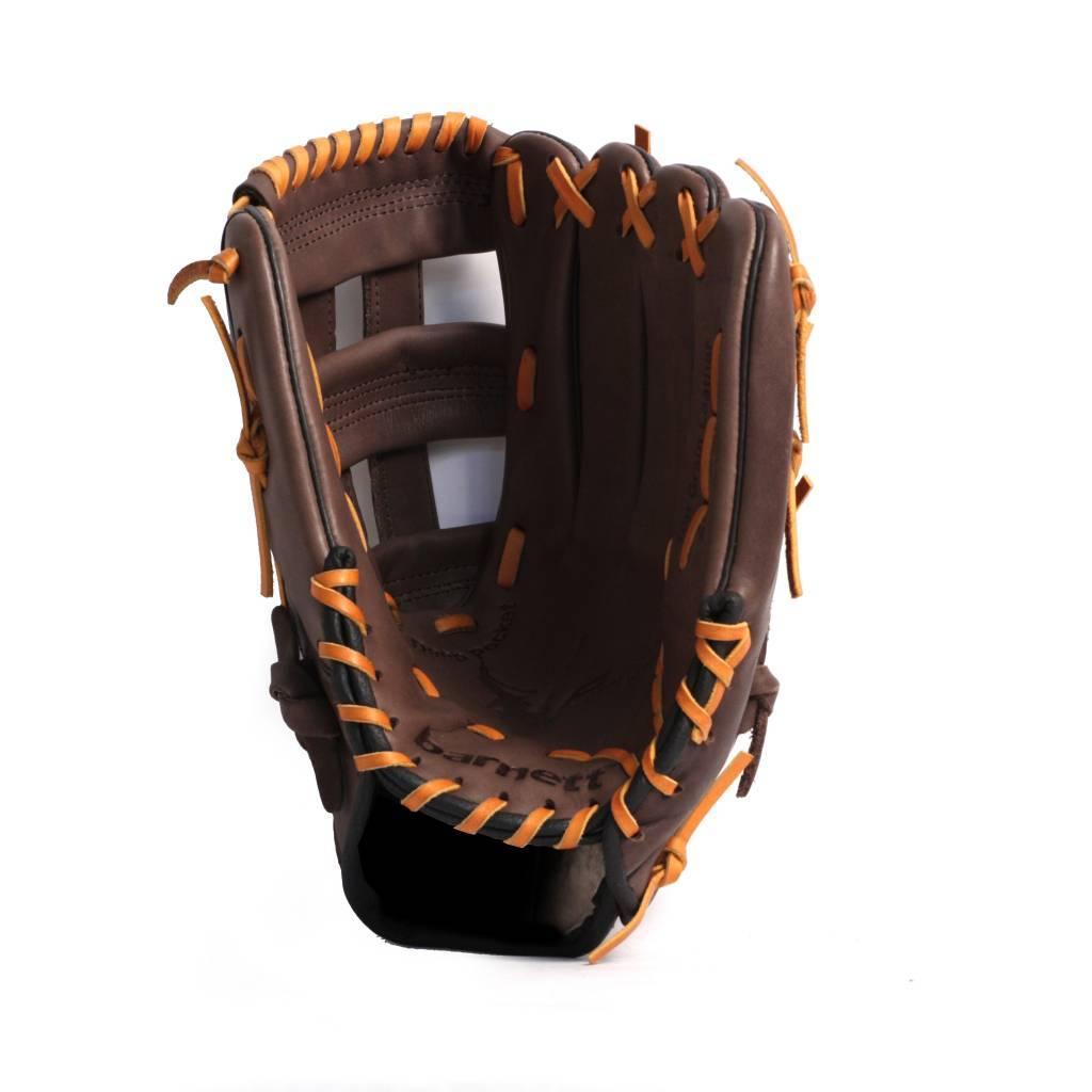 barnett GL-125 Soutěžní kožená baseballová rukavice, outfield 12.5'', hnědá