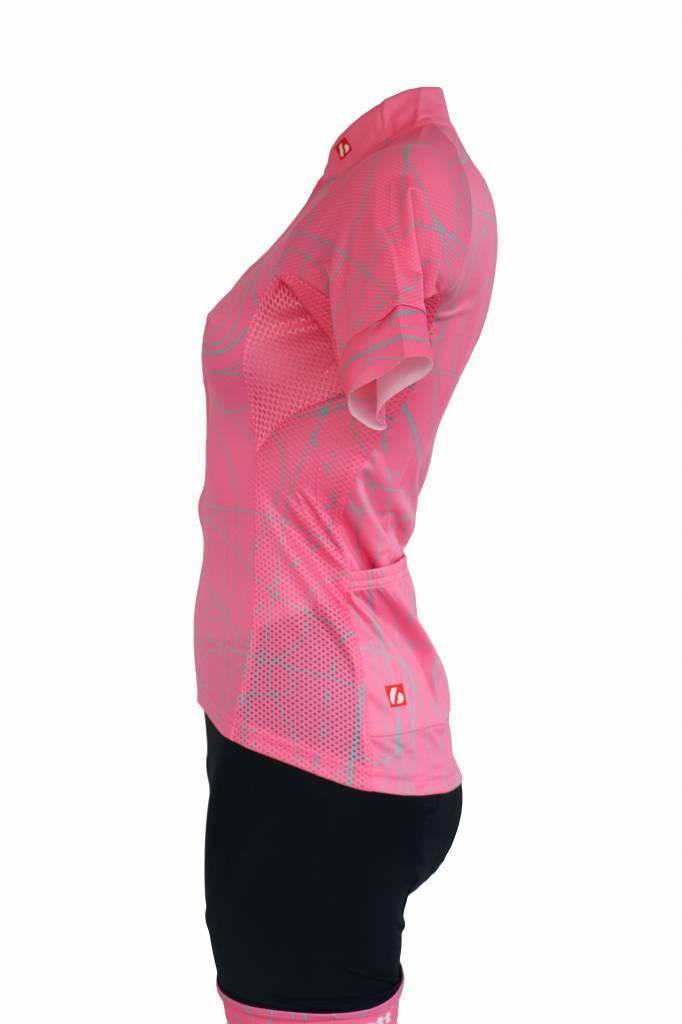 barnett Cyklistický dres - krátký rukáv RŮŽOVÁ