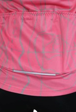 barnett Cyklistický dres - dlouhý rukáv RŮŽOVÁ