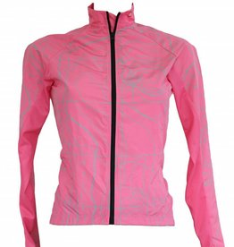 barnett Cyklistické oblečení - bunda s dlouhým rukávem, větrovka RŮŽOVÁ