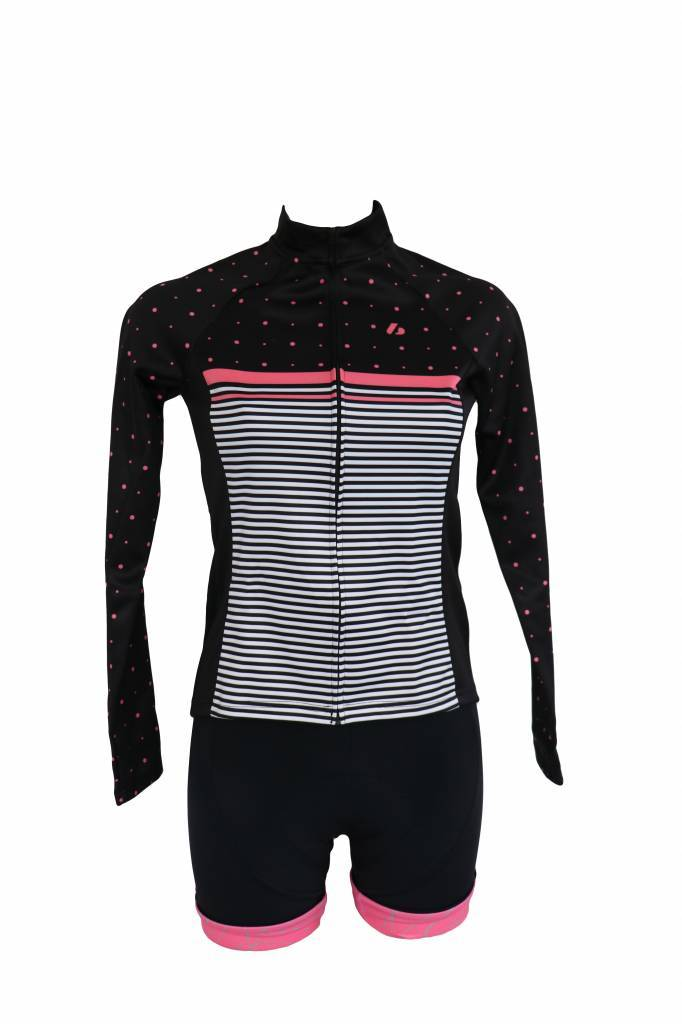 barnett Cyklistické oblečení - bunda s dlouhým rukávem, větrovka ČERNO RŮŽOVÁ