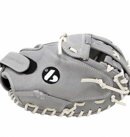 barnett FL-201 baseballová rukavice, kůže, catcher, světle šedá
