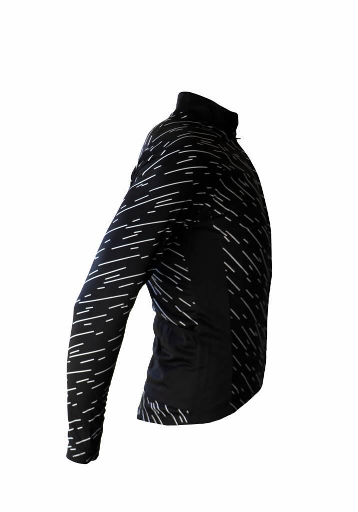 barnett Cyklistické oblečení - bunda s dlouhým rukávem, větrovka ČERNÁ