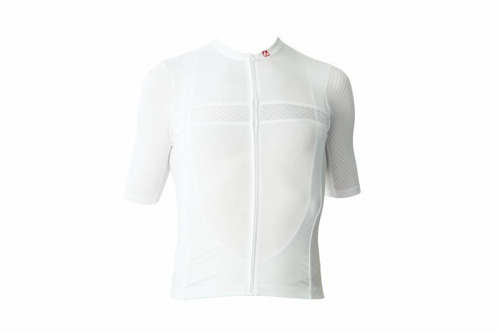 barnett Cyklistický pánský dres - krátký rukáv,  BÍLÁ
