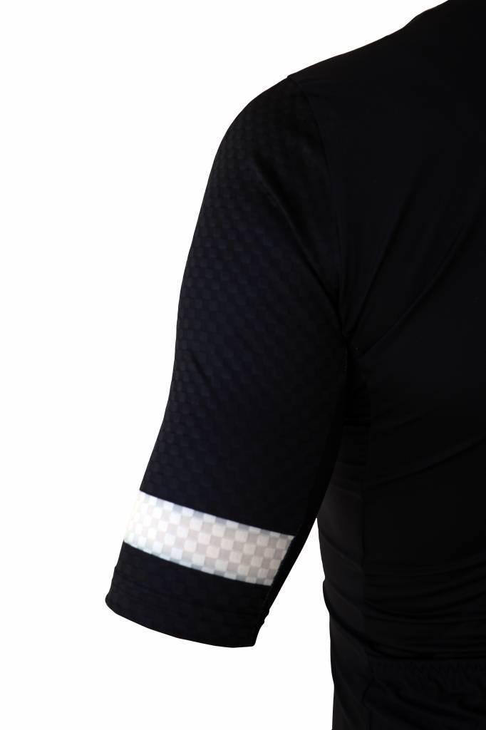 barnett Cyklistický pánský dres - krátký rukáv,  černo-bílá