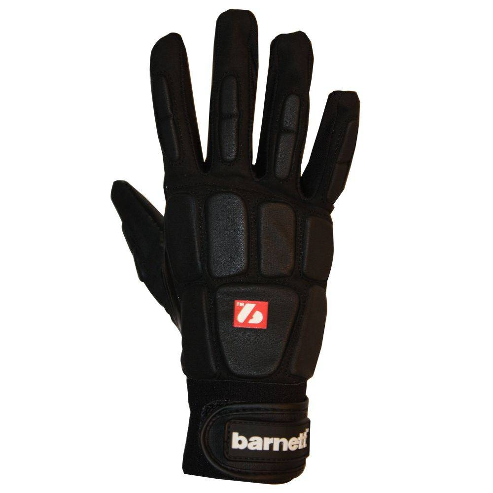 barnett FKG-03 Vysoce kvalitní rukavice na americký fotbal, linebacker, LB,RB,TE, černá