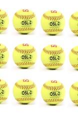 """barnett OSL-2 Soutěžní softbalový míč, velikost 12"""", žlutá, 12 ks"""