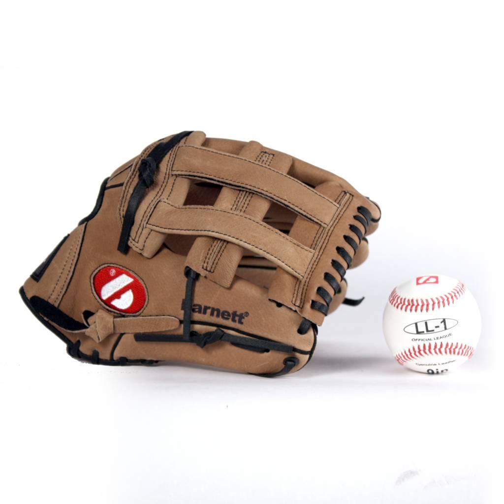 "barnett GBSL-1 Baseballová sada kožená, rukavice – míč, Senior (SL-127 12,7"", LL-1 9"")"