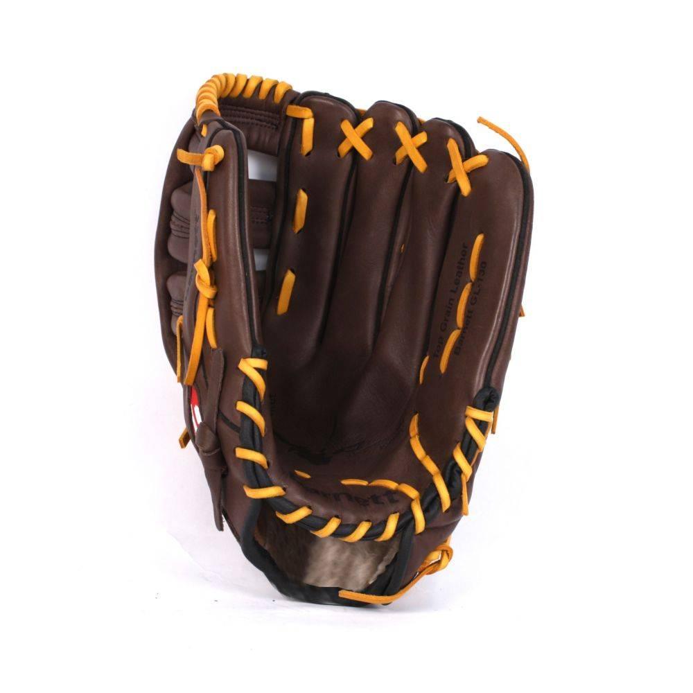 barnett GL-127 Soutěžní kožená baseballová rukavice, outfield 12.7'', hnědá