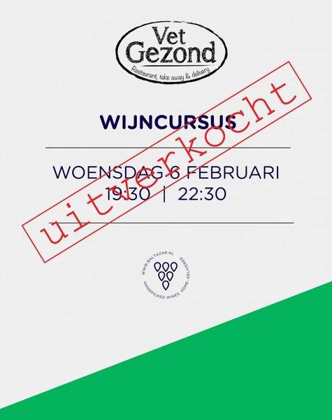 Wijncursus woensdag 6 februari