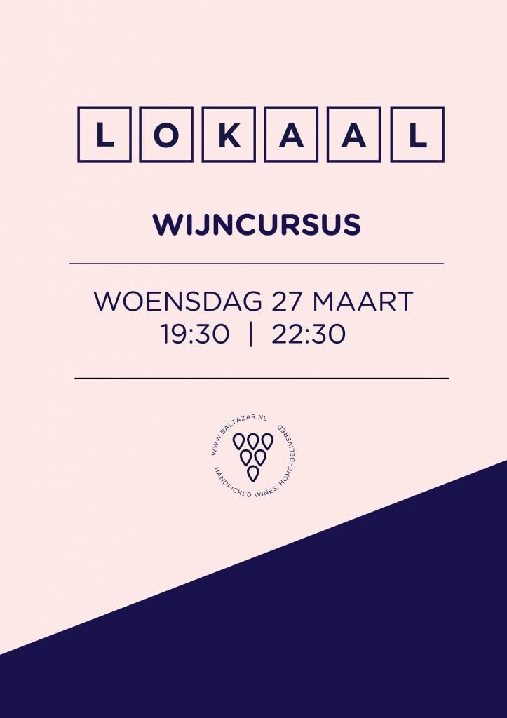 Wijncursus LOKAAL 27 maart