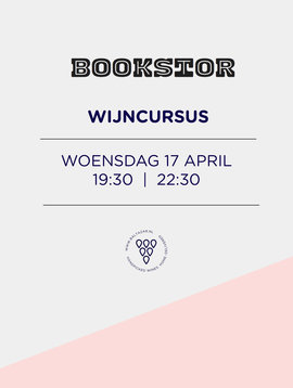 Wijncursus 17 april  Bookstor Den Haag