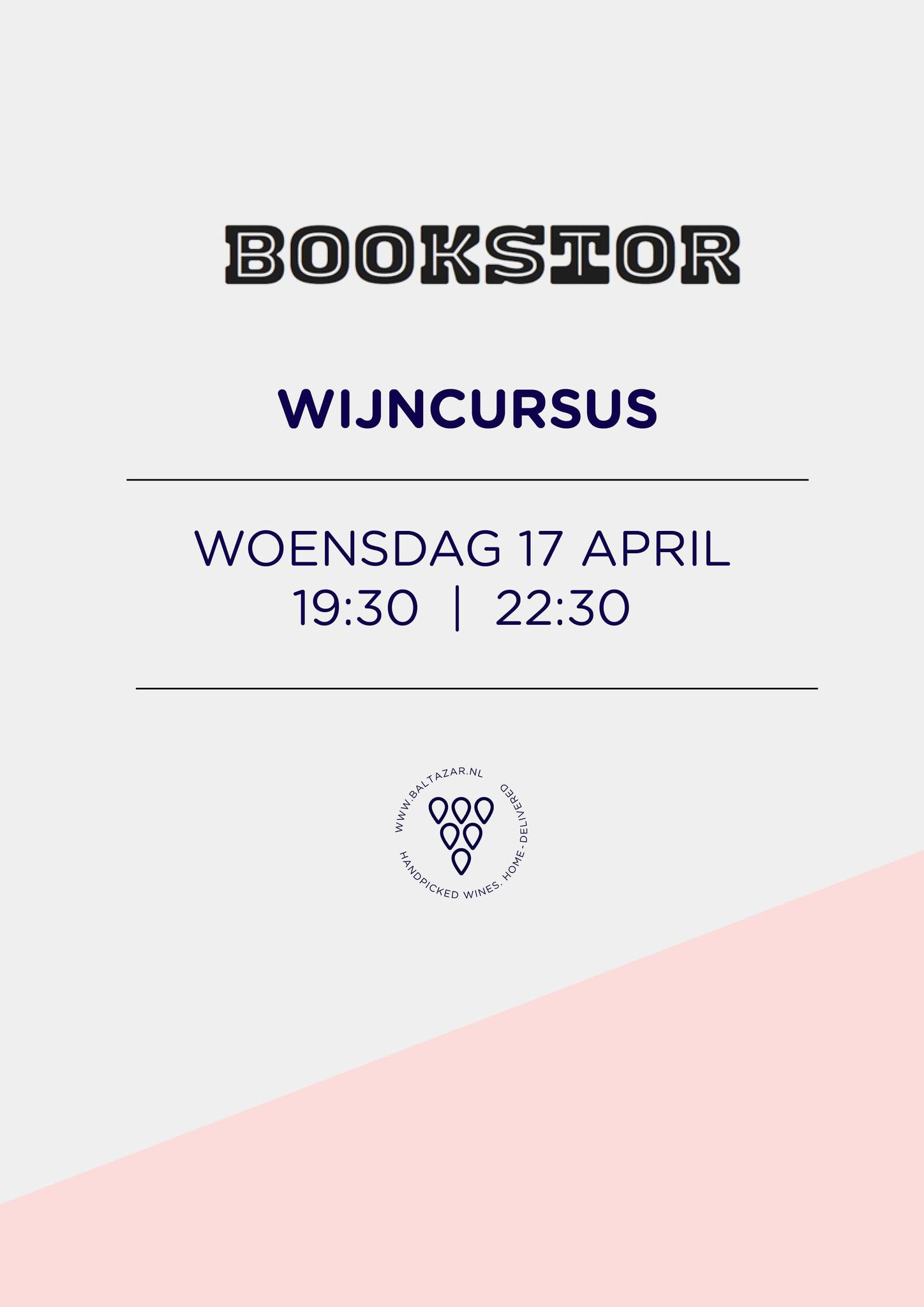 Wijncursus 17 april  Bookstor Den Haag