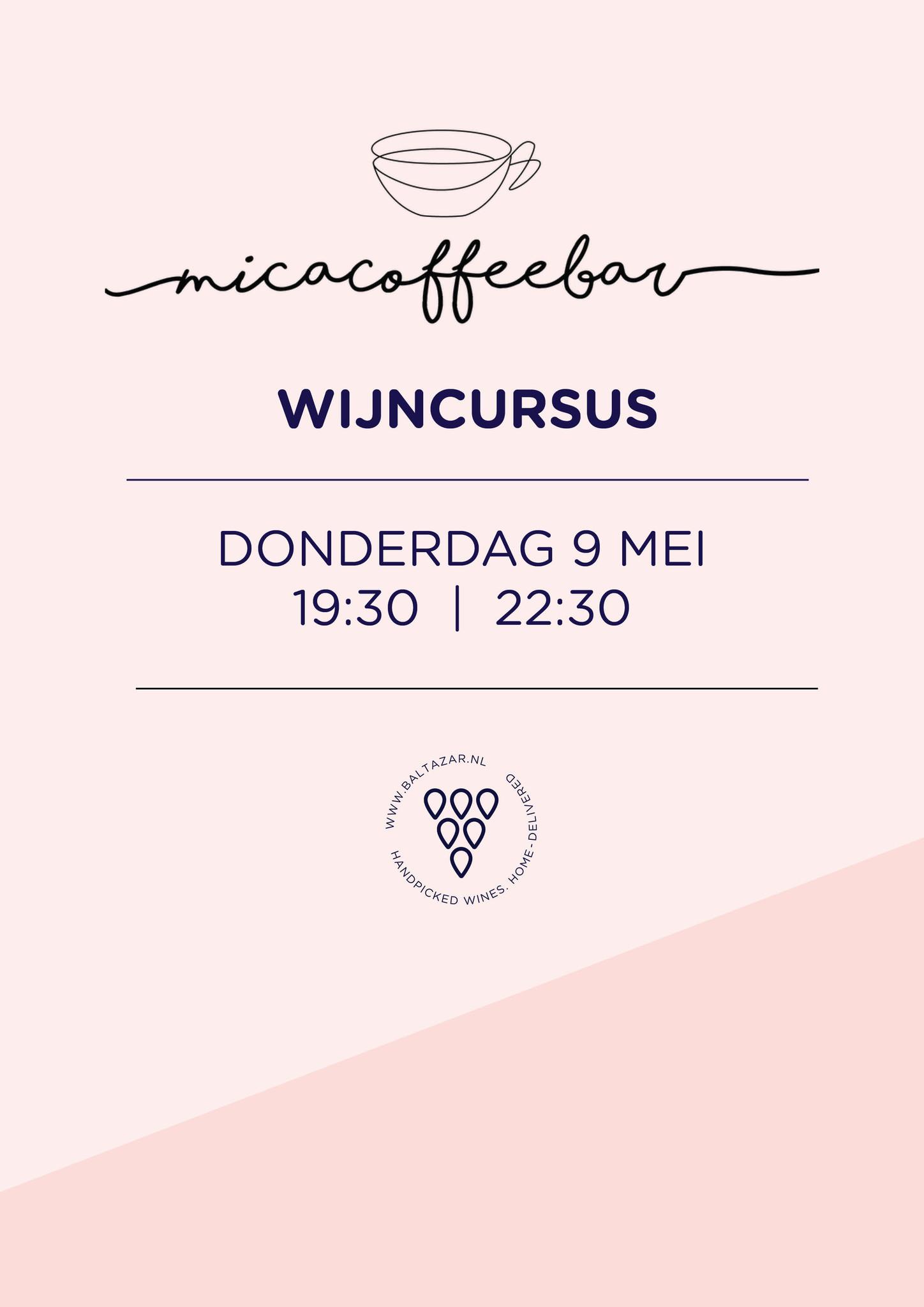 Wijncursus 9 mei Mica Haarlem