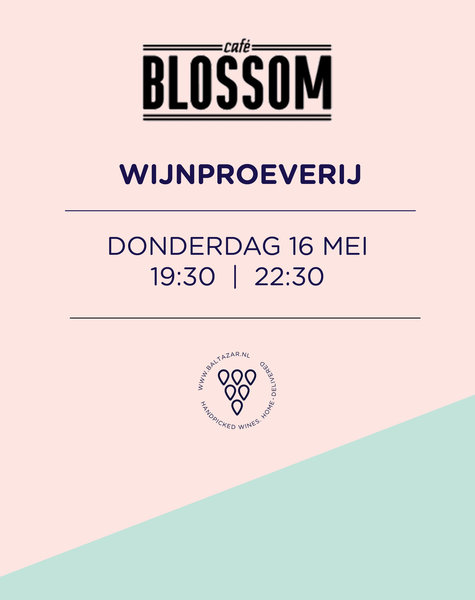 Wijnproeverij 16 mei Blossom Den Haag