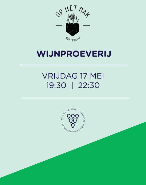 Wijnproeverij 17 mei Op Het Dak  Rotterdam