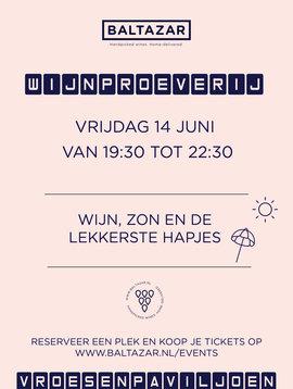 Wijnproeverij 14 juni Vroesenpaviljoen
