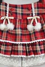 Rode cashmere geruite Lolita rok