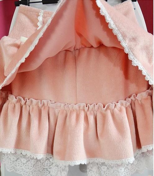 Lolita roze cashmere rok