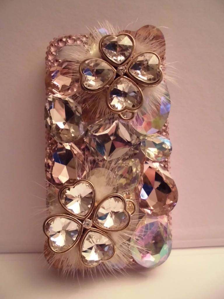 Unieke iphone 4(s) case met uniek bloem design