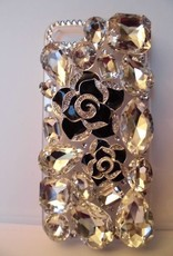 Iphone 5 Zwarte rozen case