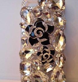 Iphone 5 Zwarte rozen case